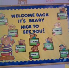 Lot's of really cute beginning of the year bulletin boards.