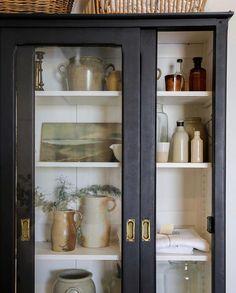 Elsie Green (@elsie_green) • Instagram photos and videos Pickle Jars, Cabinet Making, China Cabinet, Bathroom Medicine Cabinet, Cozy House, Home Organization, Stoneware, Shelves, Storage