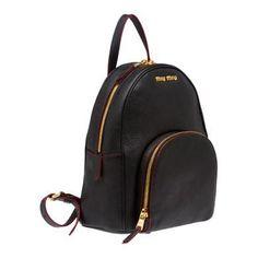 MIU MIU Backpack.  miumiu  bags  leather  lining  backpacks  cotton fb1f37a051aeb