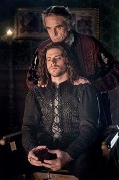 Jeremy Irons as Pope Alexander VI and Francois Arnaud as Cesare Borgia
