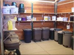 Feed room organization. Make sure you have a place for the Sure Champ!