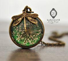 echte bloem bal ketting -ll- van Ladysworld op DaWanda.com