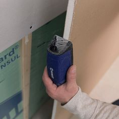 Save money on your remodel by installing your own drywall. Our video covers the basics of hanging drywall on studs. How To Patch Drywall, Drywall Repair, Hanging Drywall, Drywall Installation, Work Gloves, Diy Home Improvement, Home Repair, Basement Remodeling, Ceiling Design