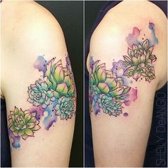 #mulpix I realized today I never posted the full photo of this hens and chicks succulents tattoo- So here we have it!  Thank you, friends, for supporting my work ♡  #tattoo  #tattoos  #greshamoregon  #portlandoregon  #equinoxtattoocollective  #watercolor  #watercolortattoo  #watercolour  #watercolourtattoos  #skinartmag  #tattoorevuemag  #supportgoodtattoos  #freshink  #graphictattoos  #abstract  #abstracttattoo  #finearttattoos  #inkaddicts  #tattoosnob  #tattrx  #inkjunkeyz  #radtattoos…