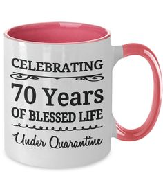 70 Years Old Birthday Under Quarantine Mug Gift Born 1950 Tea Mugs, Coffee Mugs, Best Quality T Shirts, Best Deals Online, Student Gifts, White Ceramics, Birthday, Etsy, Tea Cups