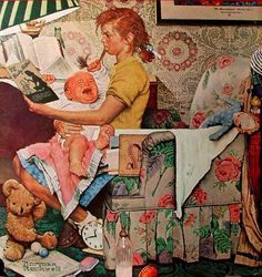Baby Sitter-Norman Rockwell