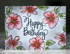 #GDP049 using Penned & Painted from Stampin' Up! - with Michelle Last