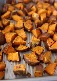 Crispy Roasted Sweet Potato Wedges- the perfect easy, healthy side! ..... I love Liv's idea for using these in vegetarian chili...but they are also great as a side to main dishes..