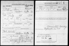 My Ancestors and Me: Alonzo J. Gerner, WW I Draft Registration Card - Military Monday #genealogy