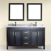 "Found it at AllModern - Coraline 60"" Double Bathroom Vanity Set with Mirror"