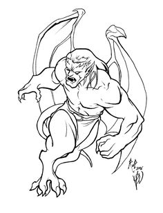 Pin Evil Gargoyle Drawings Concept By On Pinterest