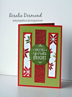 Among the branches, Stampin' Up!, Christmas card, 2015 Holiday Catalogue, Rosalie Desmond