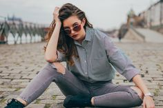 Vogue, Hipster, Plaid, Shirts, Tops, Women, Style, Fashion, Model