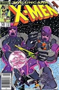 Uncanny X-Men #202, February 1986, cover by John Romita, Jr and Terry Austin.