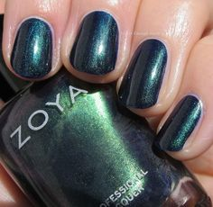 Zoya Enchanted Holiday 2016 Swatches!! | Never Enough Nails | Bloglovin' / Zoya Olivera is a indigo based duochrome with strong green flash