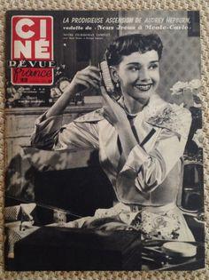 Cine Revue, France, December 14,1951  Audrey Hepburn in Monte Carlo Baby (nous irons a monte carlo)   ICG