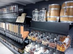 Self-service refill system introduced at Planet Organic - Retail Design World Bulk Store, Grocery Store, Spices Packaging, Zero Waste Store, Food Kiosk, Bulk Food, Sustainable Living, Retail Design, Store Design