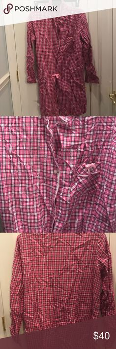 Never worn! VS Flannel Pajamas Pretty pink and purple color.. never got a chance to wear and now too small after having two children Victoria's Secret Intimates & Sleepwear Pajamas