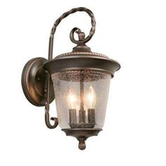 3 Light Outdoor Oil Rubbed Bronze Wall Lantern