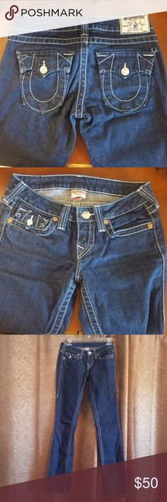 True Religion dark denim jeans Barely warn and in good condition True Religion Jeans Boot Cut