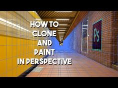 How To Clone and Paint In A Perspective | Photoshop Tutorial - YouTube