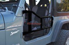 Tube Doors for Jeep Wrangler TJ & LJ 1997-2006 Black Steinjager hell yeah