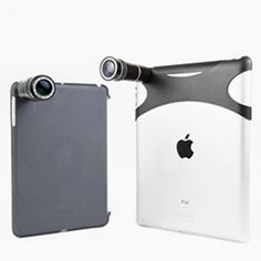 The iPad Telephoto Lens - A Telephoto Lens for your iPad Mini or iPad Biggie that gets you a 10-12x quality zoom! ($25.00, http://photojojo.com/store)