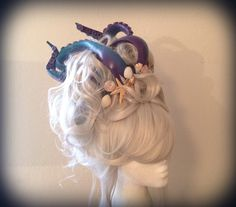Custom Mermaid Sea Siren Ursula Wig by monkeythumbs on Etsy https://www.etsy.com/listing/209849105/custom-mermaid-sea-siren-ursula-wig