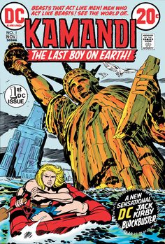 From Kirby's first defection to DC Comics, the cover to Kamandi #1, November 1972.