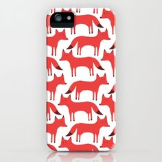 Fox Pattern iPhone & iPod Case by Jessica Procter - $35.00