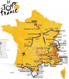 carte tour de France 2009