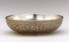 Bowl silver inlaid with gold and niello, Iran