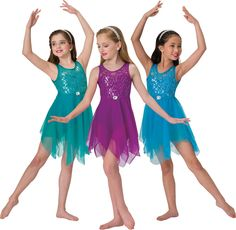 15259 Simple Gift (Jade, Fuchsia or Turquoise): Ballet Girls