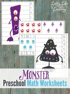 Your preschooler will have a wonderful time counting these monsters with my monster preschool counting cards and puzzles. You can use counters or dot markers on the math worksheets as your child adds up all of the monsters. Download these Monster math counting cards and puzzles here: I also have a Halloween printable pack (K-Grade 2) and Halloween Preschool Activities that you check out as well. I've teamed up with some other wonderful bloggers who are also sharing a free printable as well…