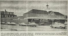 Aug. 2, 1963 - The new A&P Super Market opens in Wausau, Wisconsin at the corner of Fifth Street and Jackson Street. This building replaces their Third Street location.