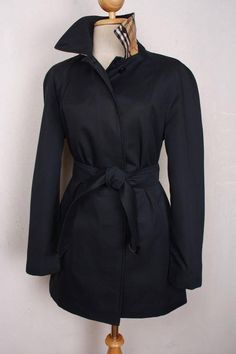 Womens Burberry London Belted Trench Overcoat / Mac Label is faded. Based on measurements would probably best fit a Size UK 8 / 10. This is a 100% genuine vintage Burberry jacket that has been customi