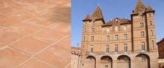 Montauban (82) - Fabrication de 800 m² de terres cuites 20x20 patiné main rosé.