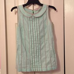 Loft collared mint  top. Like new Loft mint top. Worn once very nice collar detail LOFT Tops Tees - Short Sleeve