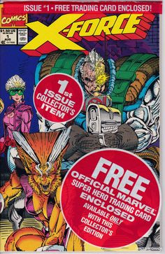 X-Force 1 Bagged With Rare Cable Card  August 1991 by ViewObscura