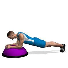 This is a strength exercise for the rectus abdominis. Control better the abdominal area because the BOSU creates instability.