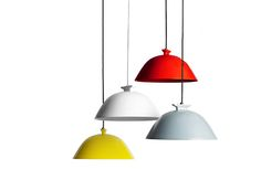 Colour - multi-coloured pendant lights