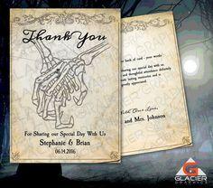 Skeleton Hands Wedding Reception Thank You by WAGlacierGraphics