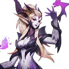 Here's the concept art that's done for Zyra's new skin. Zyra League Of Legends, Adventure Time Girls, Maou Sama, Internet Art, Art Reference, Design Reference, Xayah And Rakan, Demon Girl, Estilo Anime