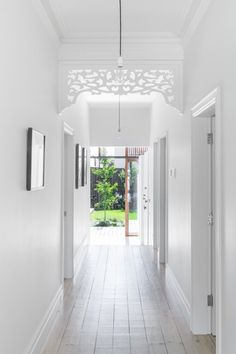 Melbourne based architecture and interior design practice. Tiled Hallway, Entry Hallway, Modern Hallway, Modern Interior, Interior Styling, Interior Design, Style At Home, Edwardian Haus, Victorian
