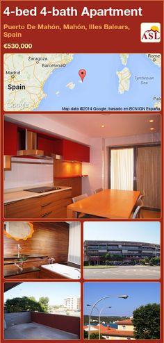 4-bed 4-bath Apartment in Puerto De Mahón, Mahón, Illes Balears, Spain ►€530,000 #PropertyForSaleInSpain