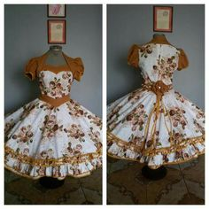 Resultado de imagen para vestidos de huasa modernos Dress Up Outfits, Fashion Dresses, Cute Outfits, Dresses Kids Girl, Flower Girl Dresses, African Fashion, Kids Fashion, Dance Dresses, Frocks