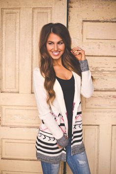 Dottie Couture Boutique - Ivory Open Sweater, $49.00 (http://www.dottiecouture.com/ivory-open-sweater/)