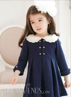 Sweet Long Sleeves Girl Dress Clothing