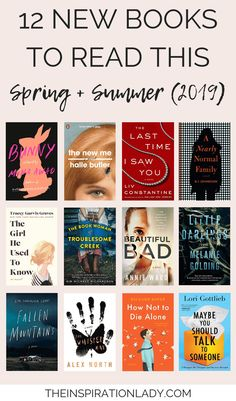 12 New Books to Read This Spring + Summer - The Inspiration Lady 12 new books to read this spring and summer 2019 // book suggestions Best Books To Read, I Love Books, New Books, Great Books, Good Books To Read, New Mystery Books, Best Book Club Books, Books To Read In Your 20s, Books To Read For Women