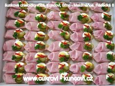 Good Food, Yummy Food, Czech Recipes, Kids And Parenting, Sandwiches, Anniversary, Vegetables, Cooking, Party